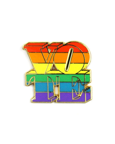 Rainbow Vote Pin