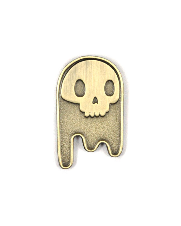 Ghost Skull Pin - Gold-Brandy Bingham-Strange Ways