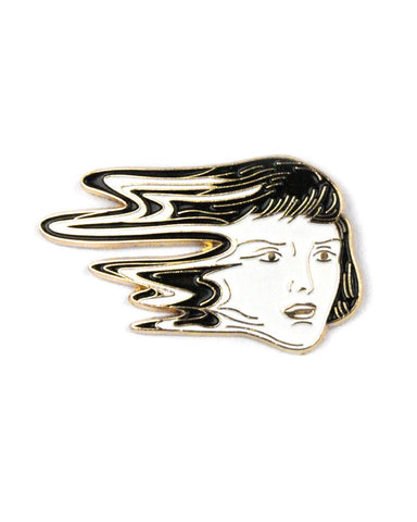 Glitched Face Pin