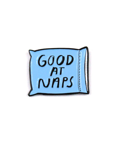 Good At Naps Gift Pin