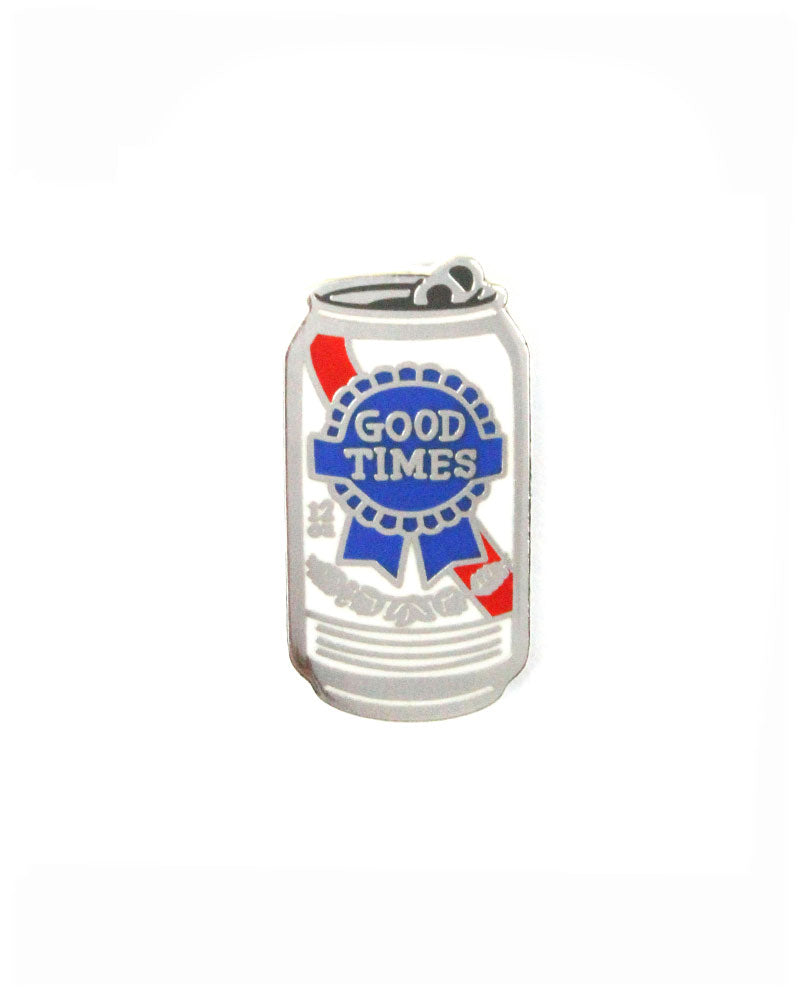 Good Times Beer Can Pin-The Found-Strange Ways