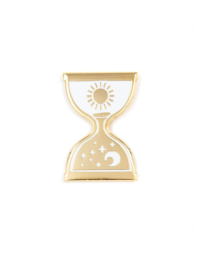 Day Into Night Hourglass Pin-These Are Things-Strange Ways
