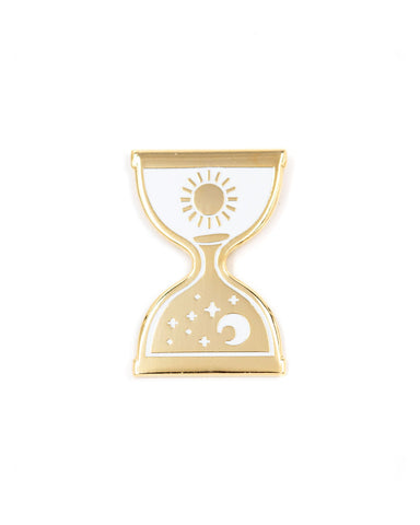 Day Into Night Hourglass Pin