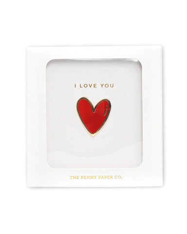 I Love You Heart Pin (Gift Box)
