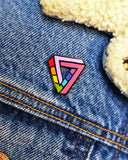 Impossibly Gay Triangle Pin-Bianca Designs-Strange Ways
