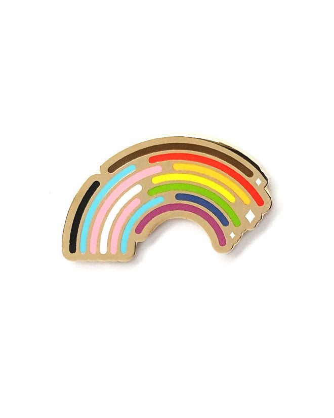 Inclusive Rainbow Pride Pin-Bianca Designs-Strange Ways