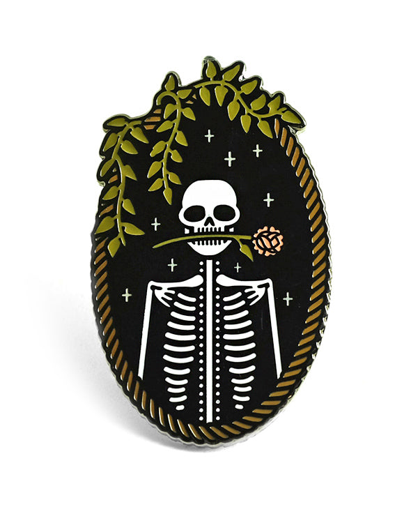 Jackie Skeleton Large Pin-Lost Lust Supply-Strange Ways
