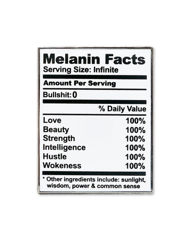Melanin Facts Table Chart Pin