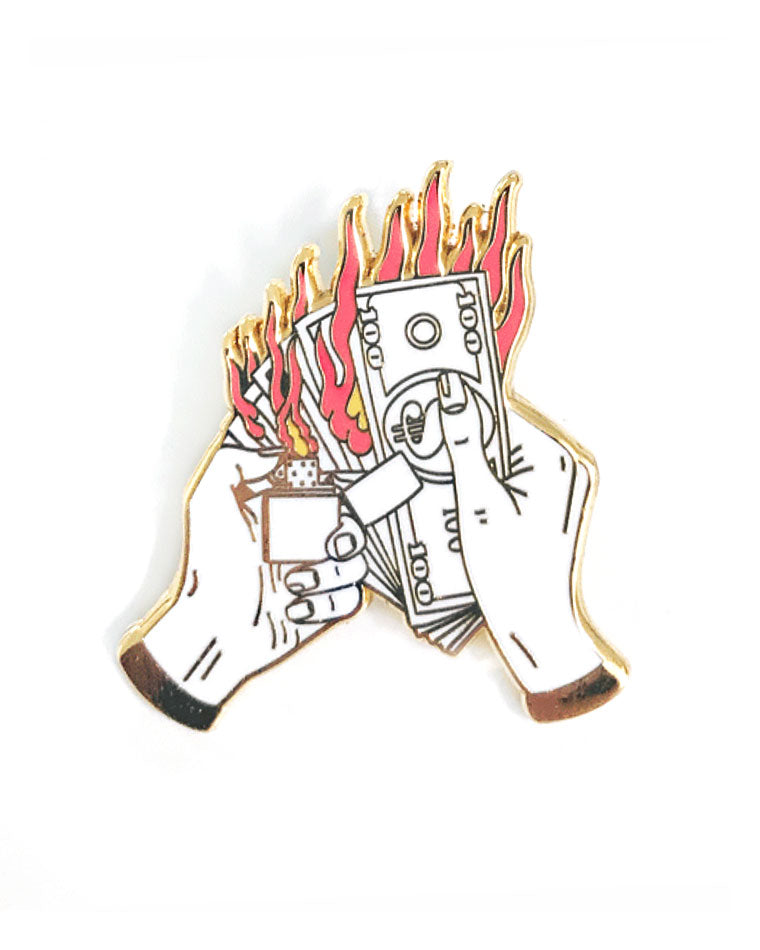 Money Burner Pin-Strike Gently Co.-Strange Ways