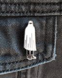 Mr. Ghost Pin - White-Johnny Swanko-Strange Ways