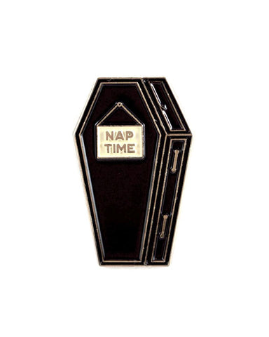 Nap Time Coffin Pin