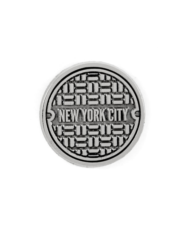 NYC Sewer Cover Pin-These Are Things-Strange Ways