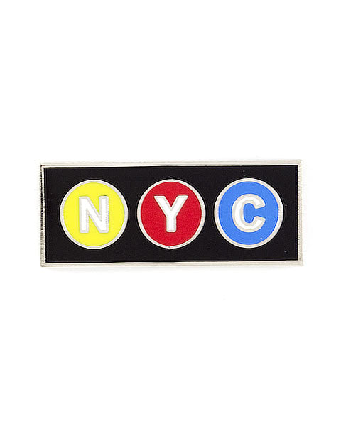 NYC Subway Sign Pin-These Are Things-Strange Ways