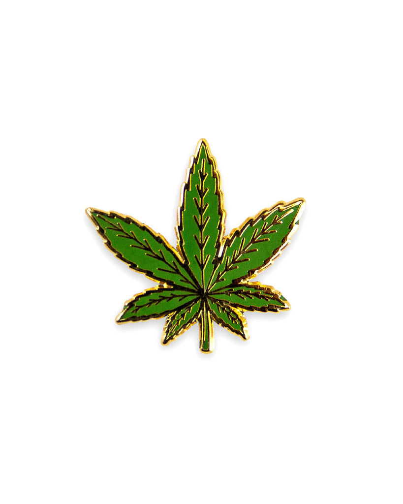 Marijuana Pot Leaf Pin-KingPinz-Strange Ways