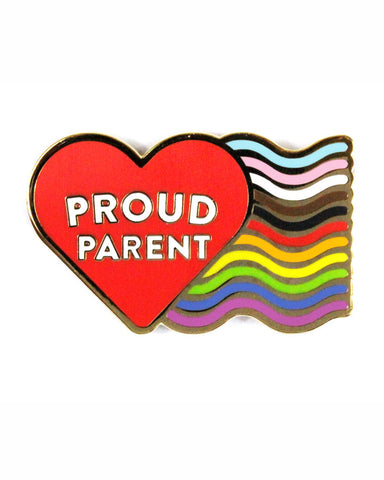 Proud LGBTQ+ Parent Pin