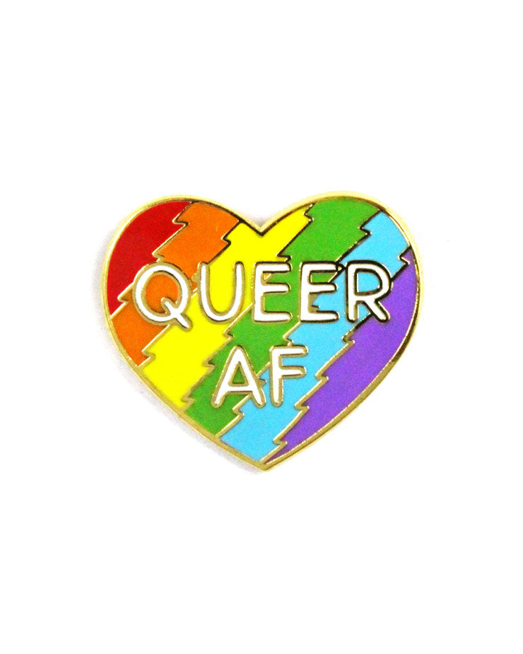 Queer AF Heart Pin-The Found-Strange Ways