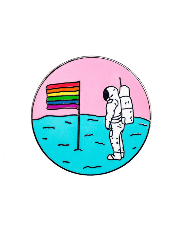 Queer Moon Astronaut Pin-Pretty Bad Co.-Strange Ways