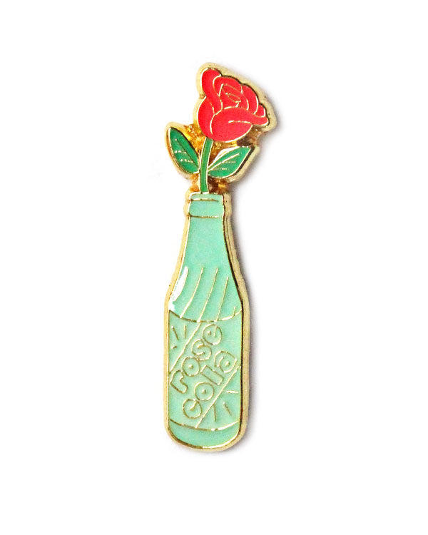 Rose Cola Bottle Pin-Rosehound Apparel-Strange Ways