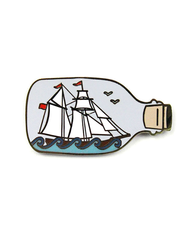 Ship In A Bottle Pin-Quiet Tide Goods-Strange Ways