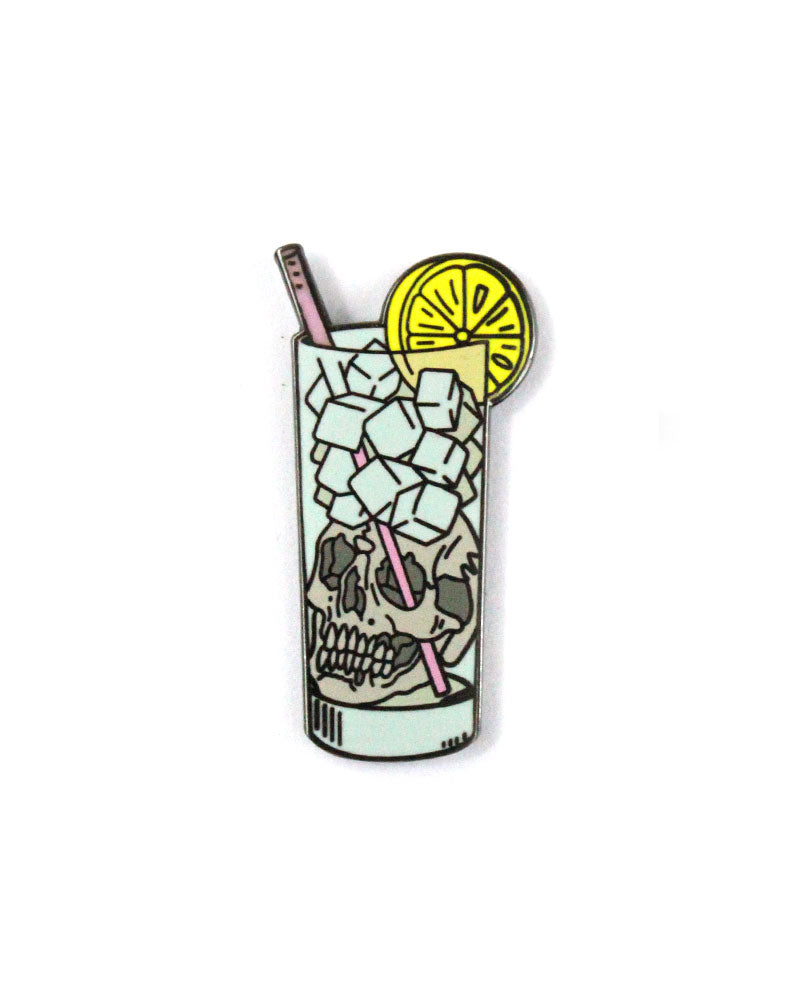 Highball Skull Pin-Strike Gently Co.-Strange Ways