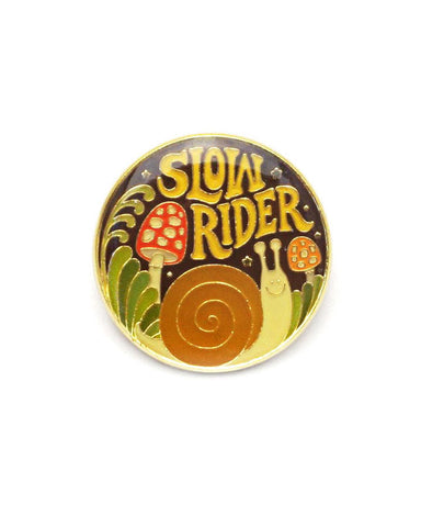 Slow Rider Snail Pin
