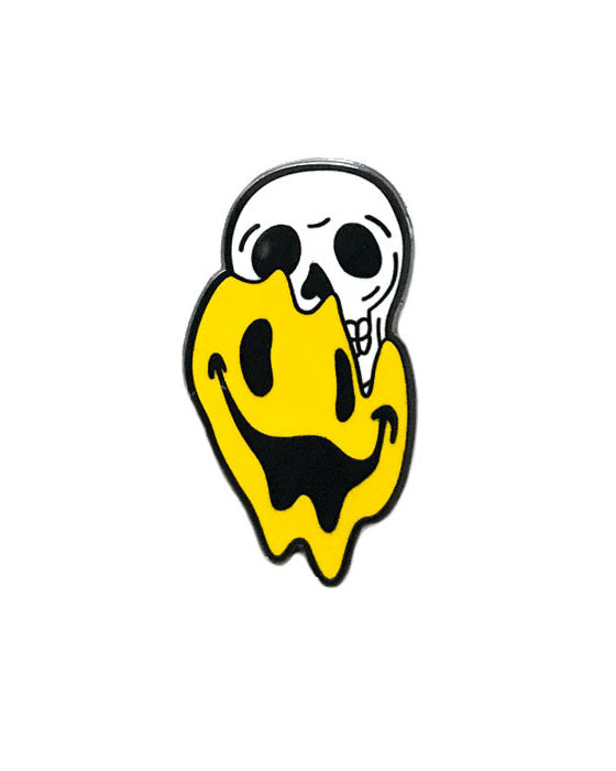 Happiness Smiley Face Skull Pin-Strike Gently Co.-Strange Ways
