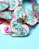 Tea Rex Pin-Glitter Punk-Strange Ways