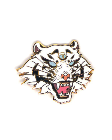 White Dream Tiger Pin