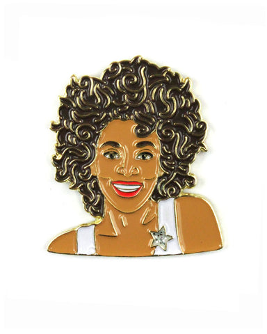 Whitney Houston Pin