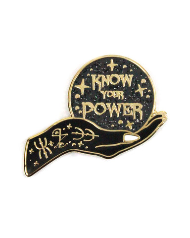 Know Your Power Crystal Ball Pin