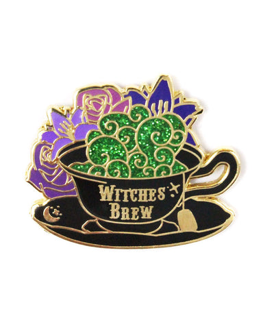 Witches Brew Tea Pin