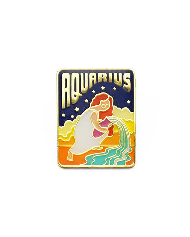 Aquarius Zodiac Pin