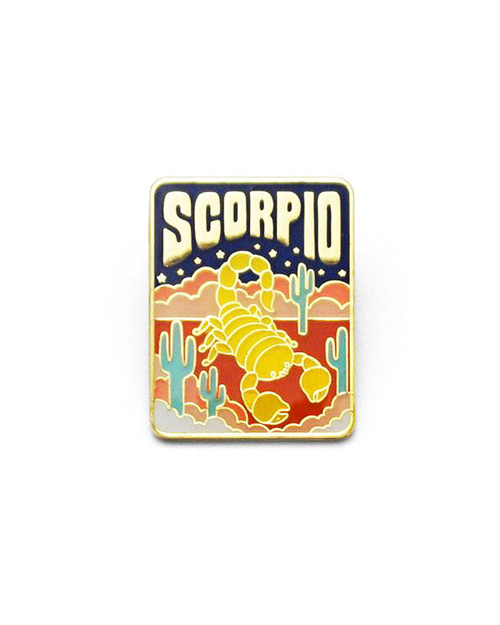 Scorpio Zodiac Pin-Lucky Horse Press-Strange Ways