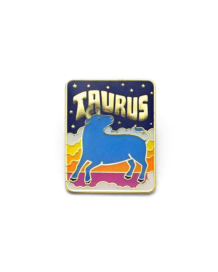 Taurus Zodiac Pin-Lucky Horse Press-Strange Ways