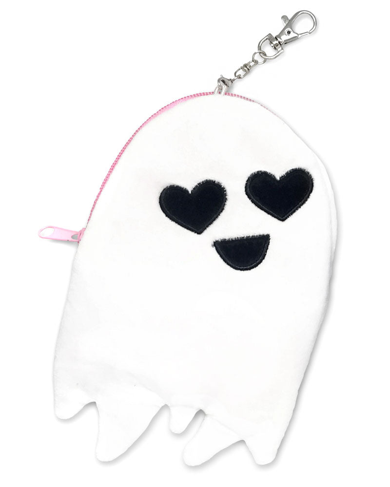 Happy Ghost Plush Zip Pouch-Sara M. Lyons-Strange Ways