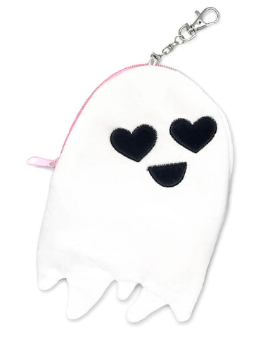 Happy Ghost Plush Zip Pouch