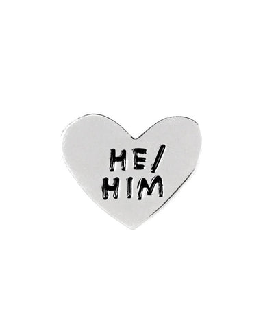 He / Him Gender Pronoun Heart Pin