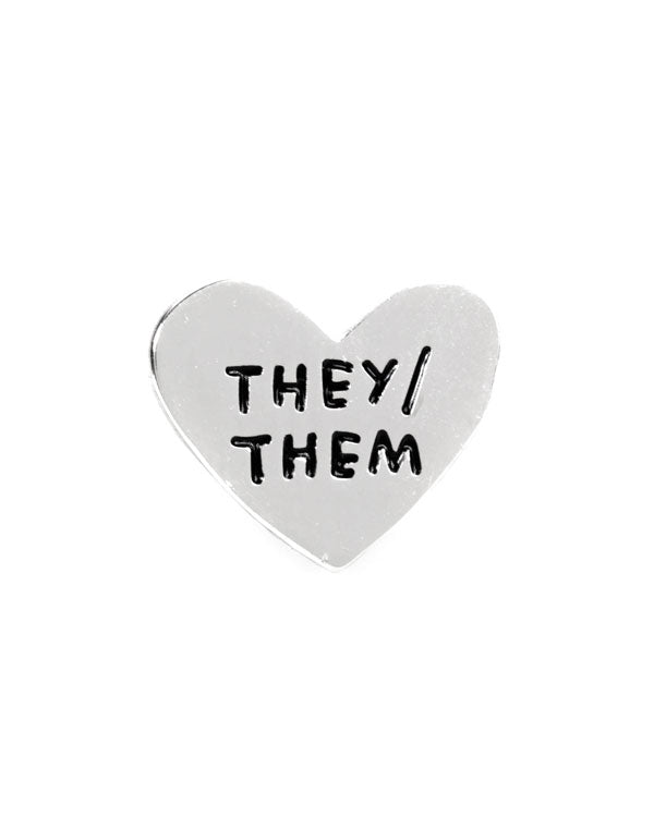 They / Them Gender Pronoun Heart Pin-Adam J. Kurtz-Strange Ways