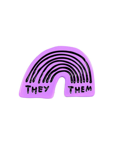 They / Them Rainbow Pin