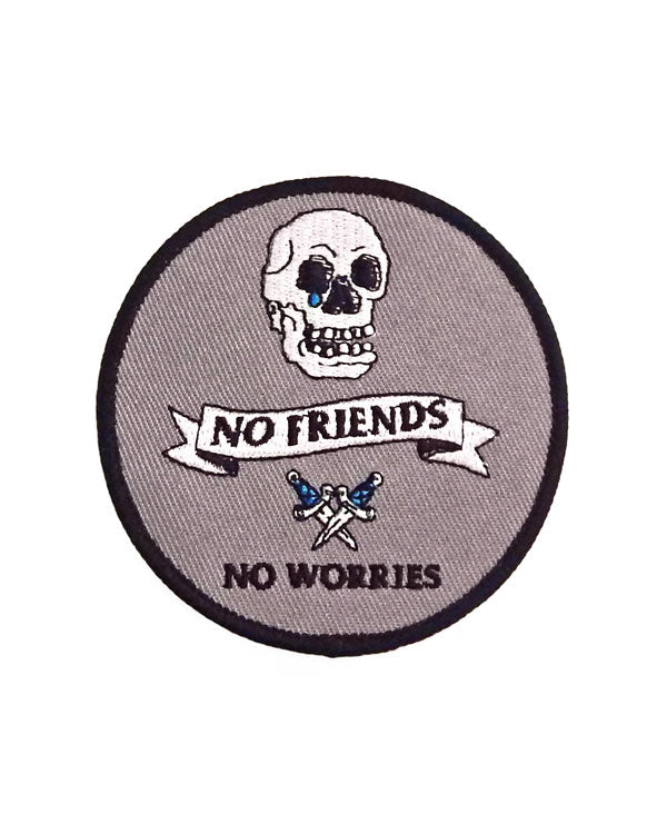 No Friends No Worries Patch-Hungry Ghost Press-Strange Ways