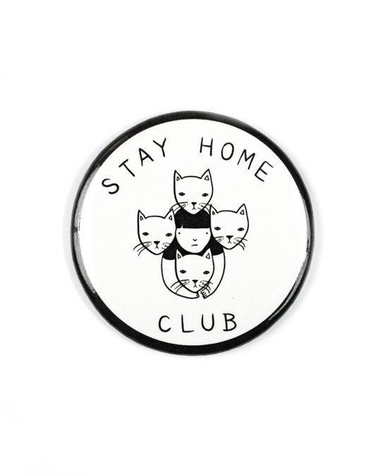 Stay Home Club Large Refrigerator Magnet-Stay Home Club-Strange Ways