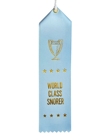 World Class Snorer Ribbon Award