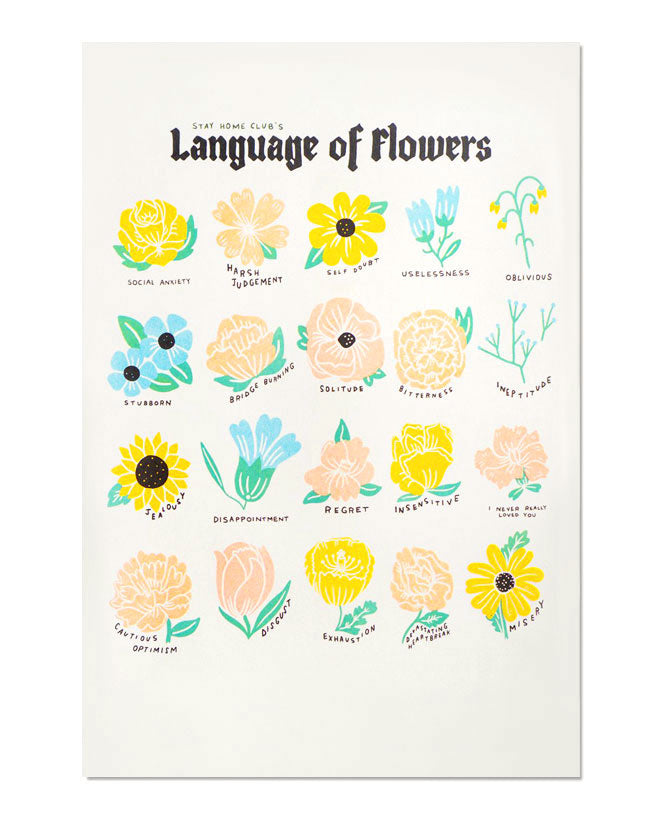 Language Of Flowers Art Print-Stay Home Club-Strange Ways