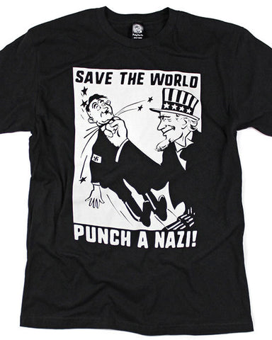 Save The World, Punch A Nazi! Unisex Tee
