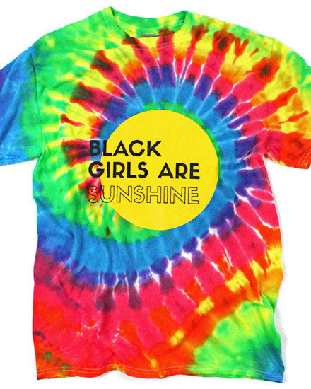 Black Girls Are Sunshine Unisex Tie-Dye Tee-Sun Queen-Strange Ways