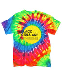 Black Girls Are Sunshine Tie-Dye T-Shirt-Sun Queen-Strange Ways