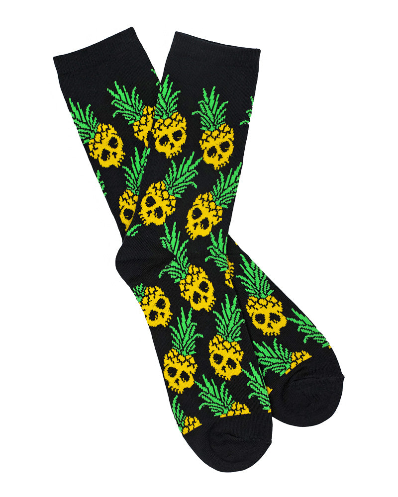 Pineapple Skull Socks-Mean Folk-Strange Ways