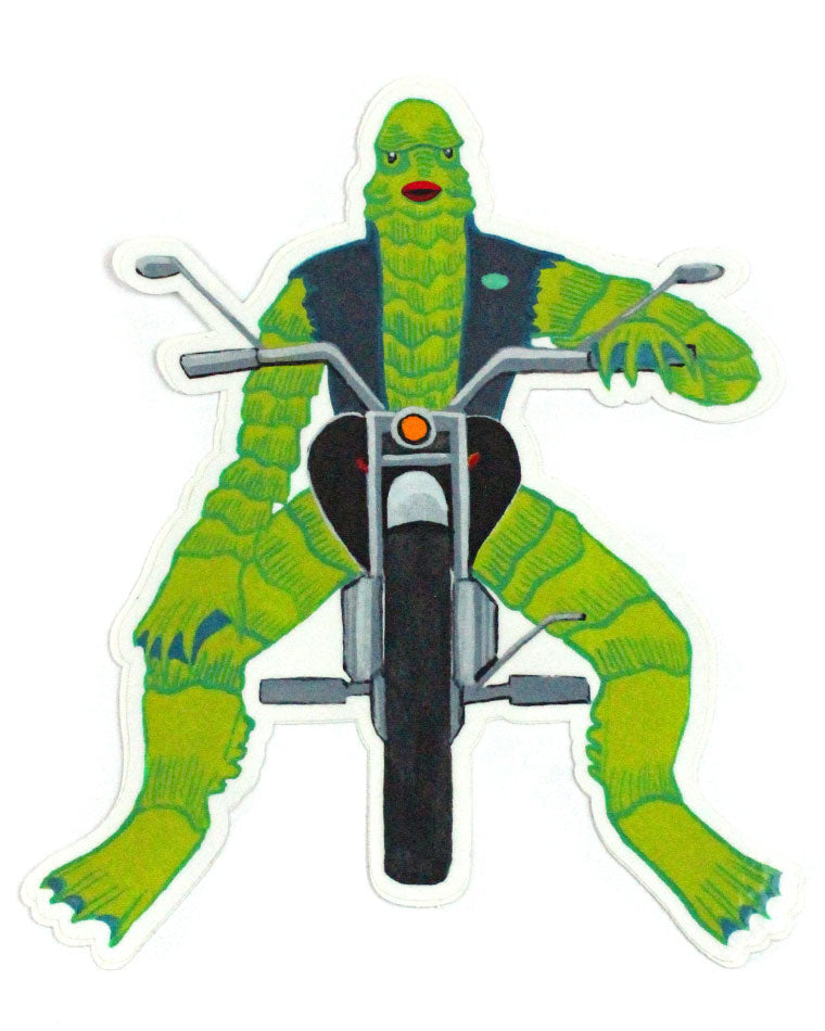 Creature Biker Large Sticker-Quiet Tide Goods-Strange Ways