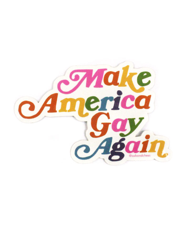 Make America Gay Again Sticker-Ash + Chess-Strange Ways