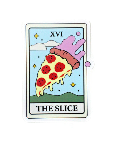 The Pizza Slice Tarot Card Sticker